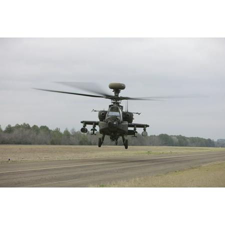 An AH-64 Apache helicopter in midair Conroe Texas Canvas Art - Terry MooreStocktrek Images (35 x 23) ()