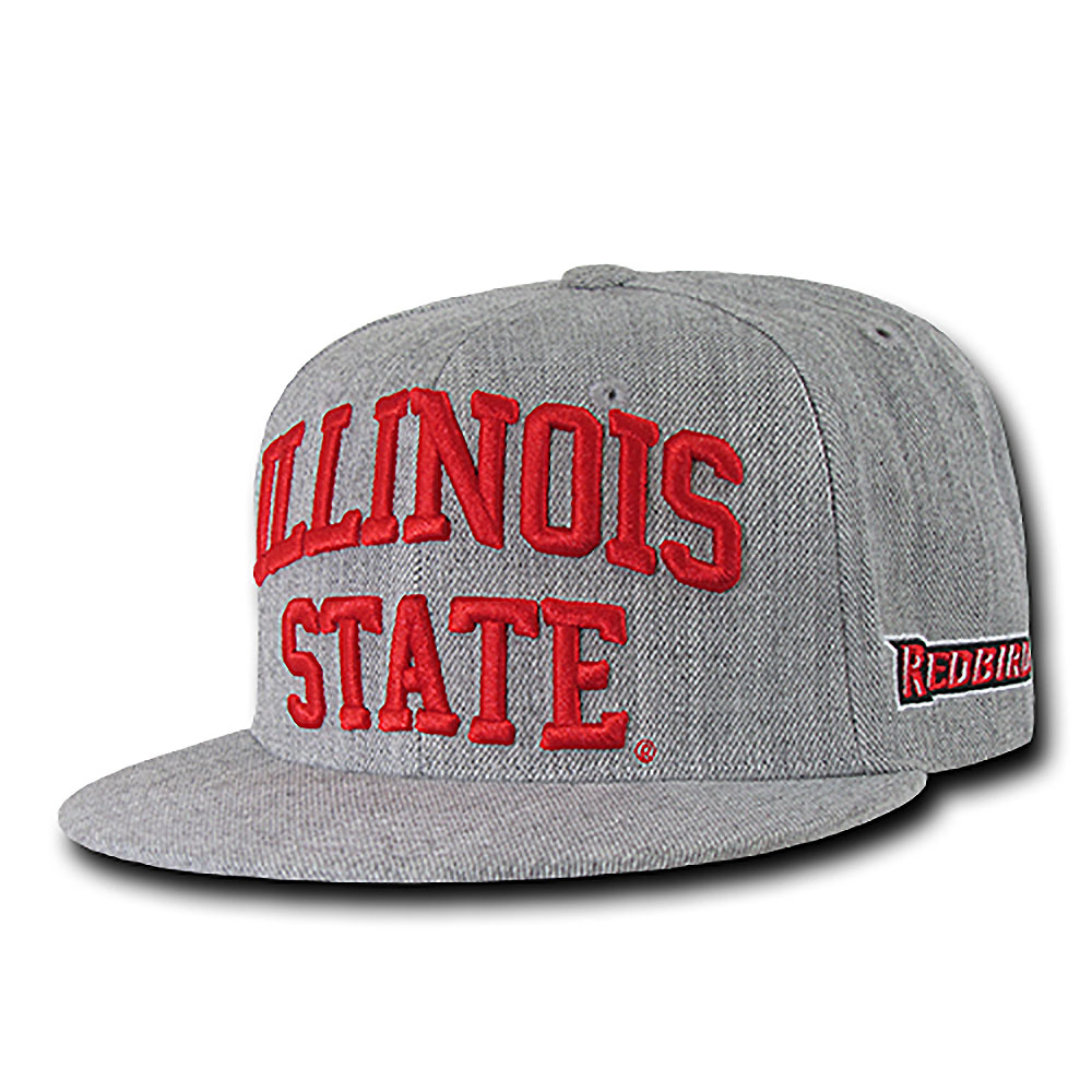 Illinois State Redbirds Game Day Fitted Hat (Gray)