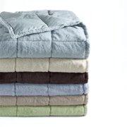 Super Snuggly Soft Plush Down Throws Cornflower Foggy Blue