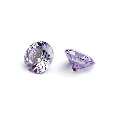 Round Cabochon Lavender - 12mm Flawless Lavender Cubic Zirconia Stones Round Brilliant-Cut Cz Stone Settings