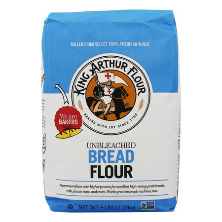 (3 Pack) King Arthur Flour Unbleached Bread Flour 5 lb. (Substitute All Purpose Flour For Coconut Flour)