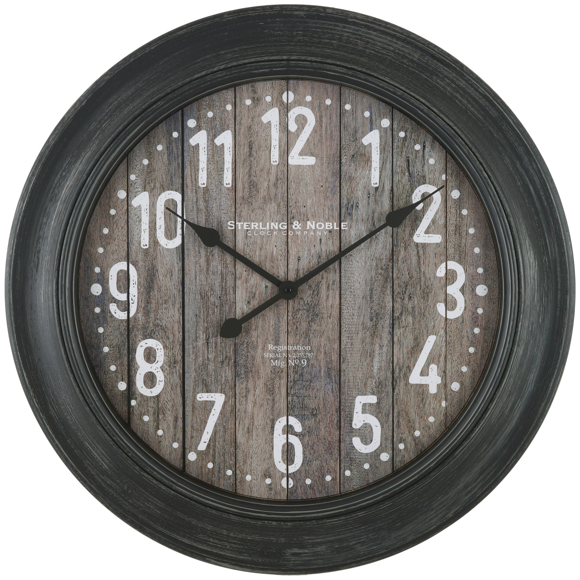 Better Homes & Gardens Rustic Round Wall Clock - 28""