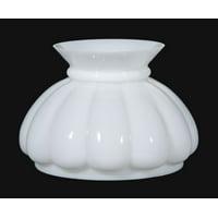 "B&P Lamp® 7"" Opal Melon Plain Top Shade"