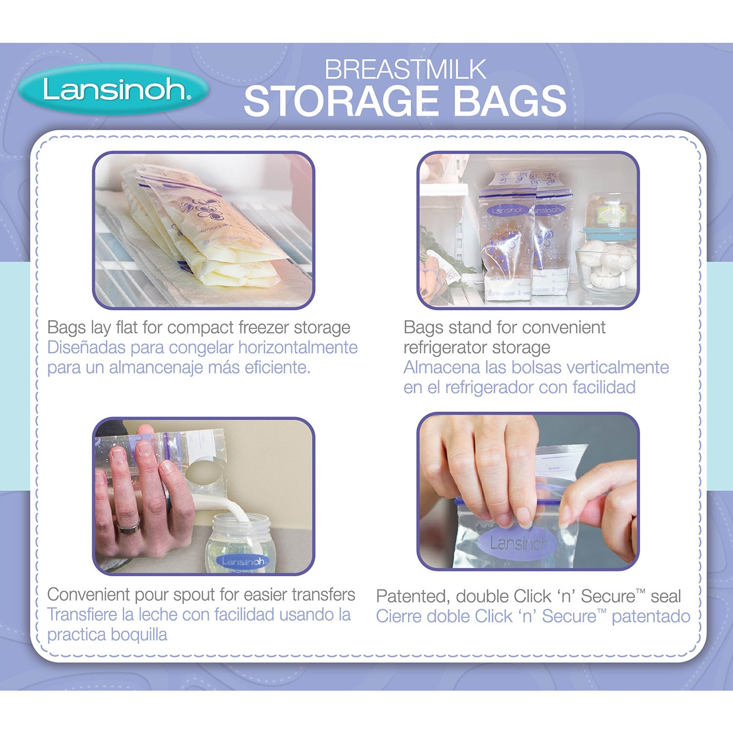 Lansinoh Tmilk Storage Bags 100 Count Bpa Free And Bps Packaging May Vary
