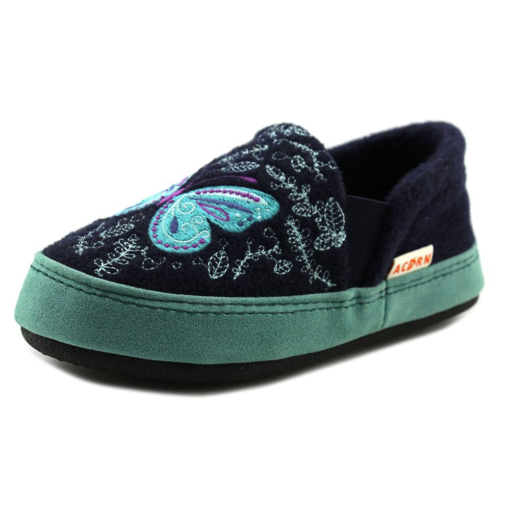 Acorn Kids Colby Gore Moc   Round Toe Canvas  Slipper
