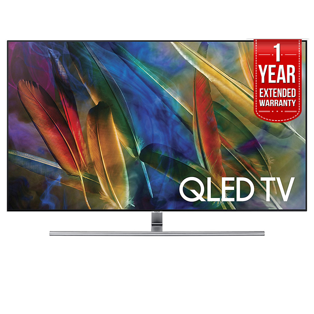 Samsung QN75Q7FAM Flat 75-Inch 4K Ultra HD Smart QLED TV (2017 Model) with 1 Year Extended Warranty by Samsung