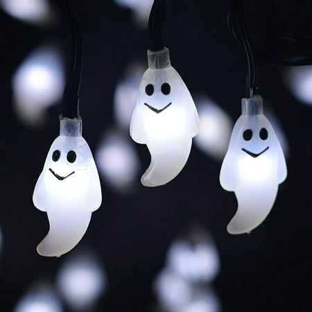 Halloween LED Fairy String Lights, 7.2 ft Pumpkin Bat Ghost Decoration Lights with 20 LED Lights Each for Indoor/Outdoor Halloween, Christmas, Holiday Party Decoration (Bat Pumpkin Halloween)