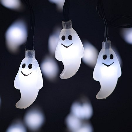 Halloween LED Fairy String Lights, 7.2 ft Pumpkin Bat Ghost Decoration Lights with 20 LED Lights Each for Indoor/Outdoor Halloween, Christmas, Holiday Party Decoration