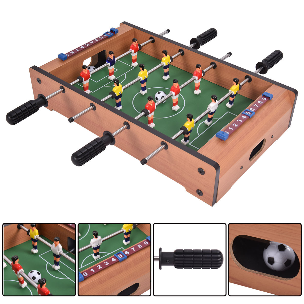 Costway 20'' Foosball Table Competition Game Soccer Arcade Sized Football Sports Indoor by Costway