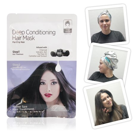 (2 Pack) Lindsay Home Aesthetics Deep Conditioning Hair Mask 1 oz (Line-ray)