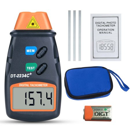 Laser Tester (Handheld Digital Photo Laser Tachometer Non Contact Tach Tool RPM Tester New )