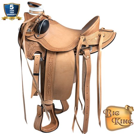 Western Horse Saddle Leather Wade Ranch Roping Tan