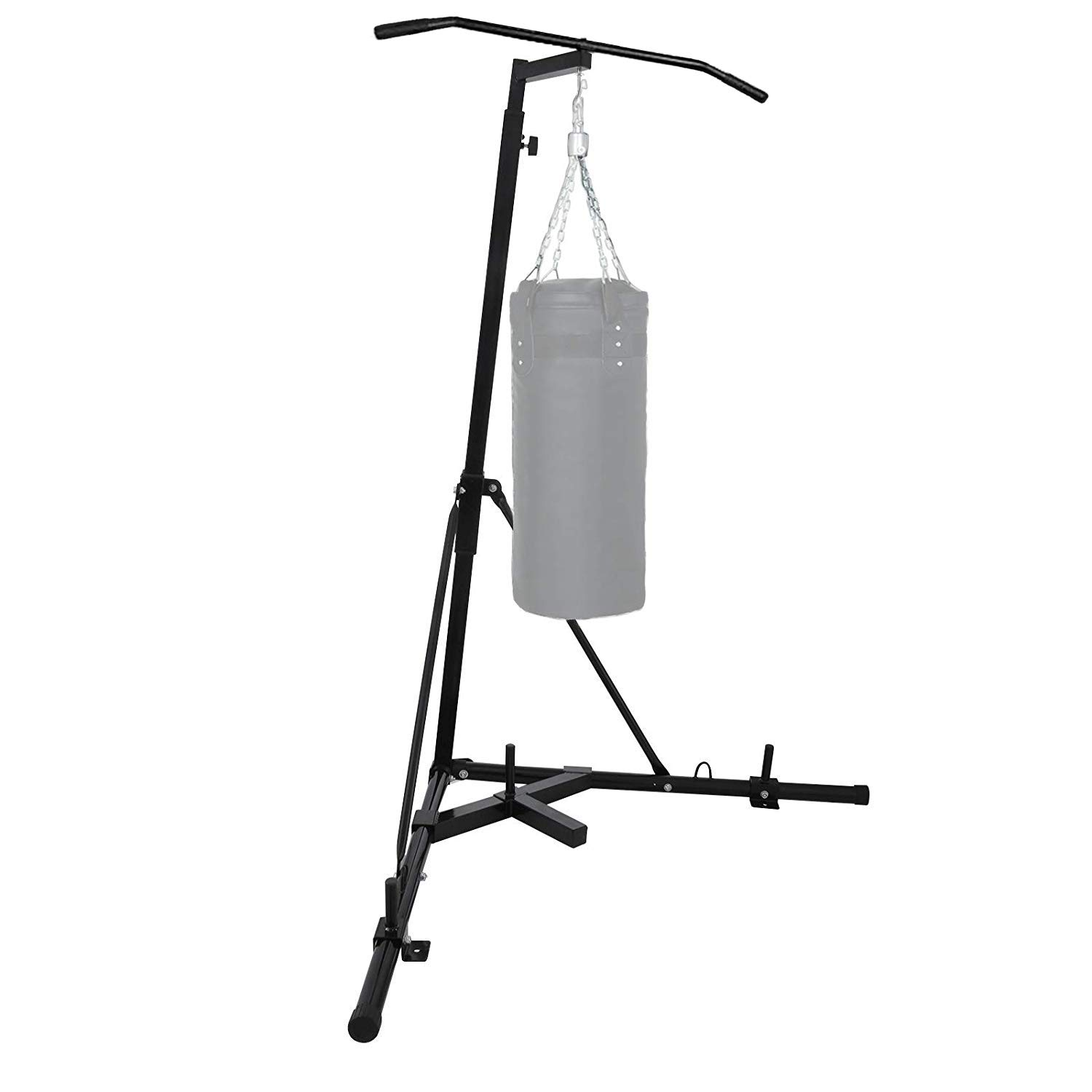 Foldable Boxing Bag Stand Stand Punch Bag Bracket Frame Pull Up Bar Fitness Home