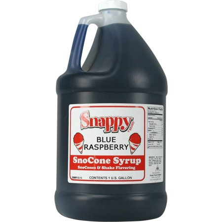 Blue Raspberry Snappy Snow Cone Syrup (1 Gallon)