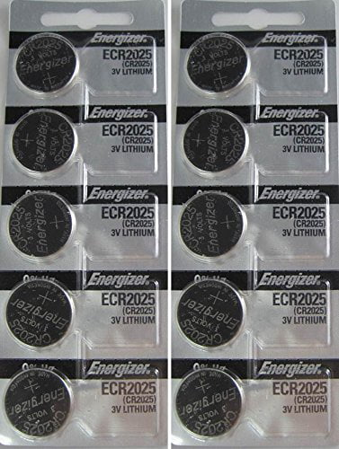 10 CR2025 Energizer Lithium Batteries (2 packs of 5) by Energizer