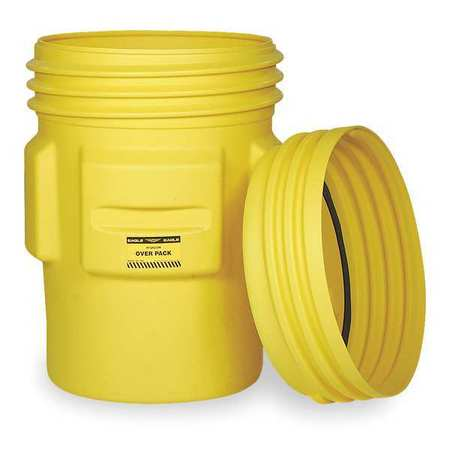 Overpack Drum,Open Head,65 gal.,Yellow EAGLE 1661
