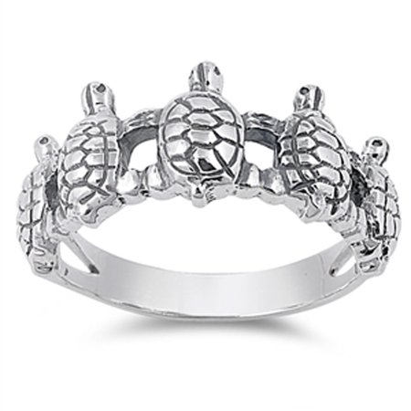 Sterling Silver Elegant Women's Turtle Ring (Sizes 5-11) (Ring Size 10) for $<!---->