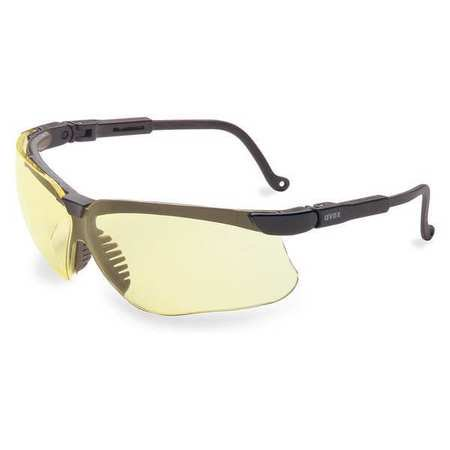 HONEYWELL UVEX Safety Glasses,Amber Lens,Uvex Genesis S3202HS