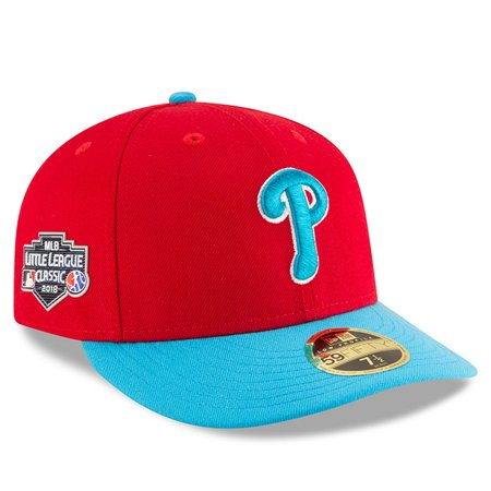official photos 0645a 6cb63 Philadelphia Phillies New Era 2018 MLB Little League Classic Low Profile 59FIFTY  Fitted Hat - Scarlet Light Blue - Walmart.com