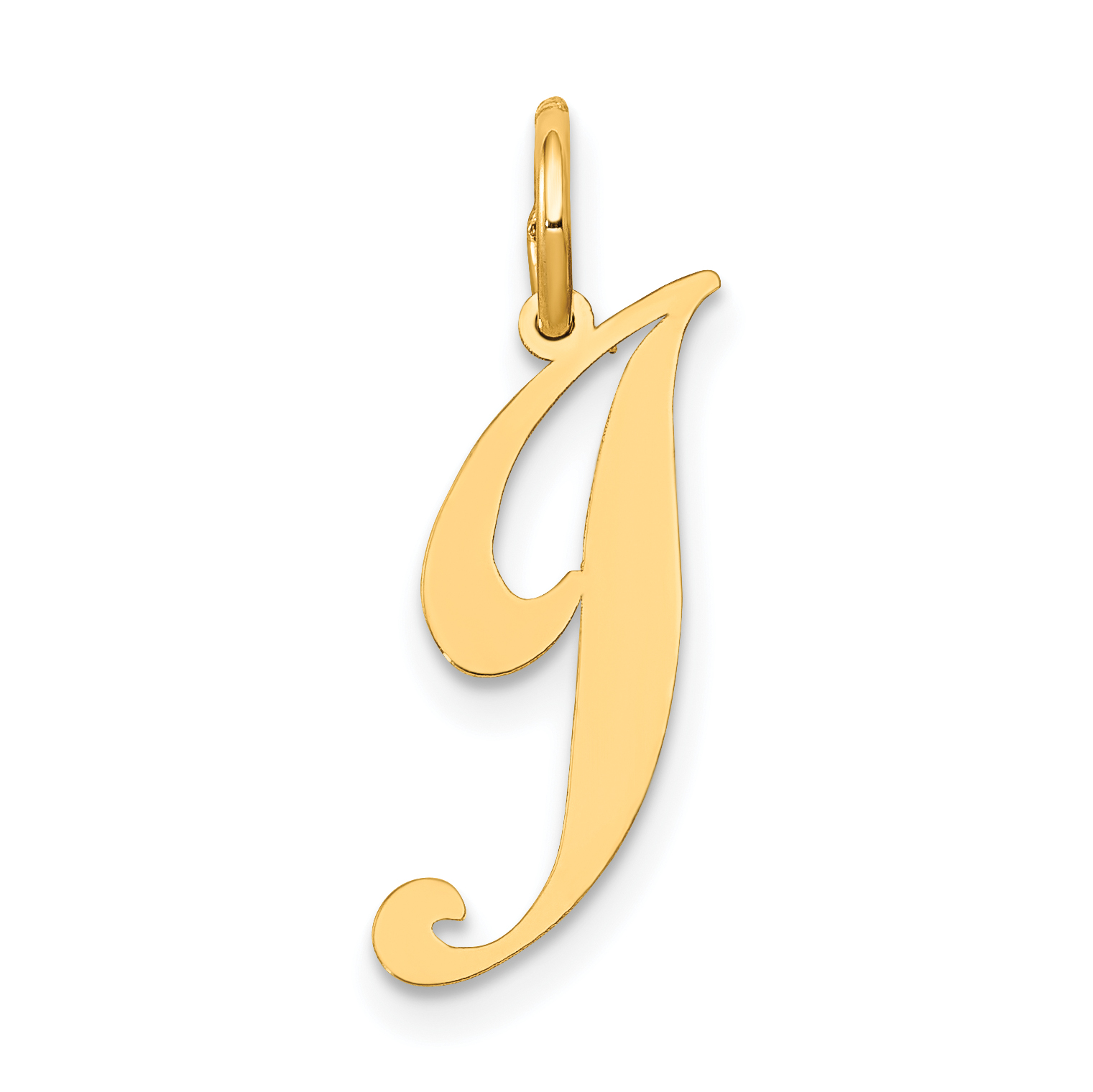 Best Quality Free Gift Box Sterling Silver Small Fancy Script Initial J Charm