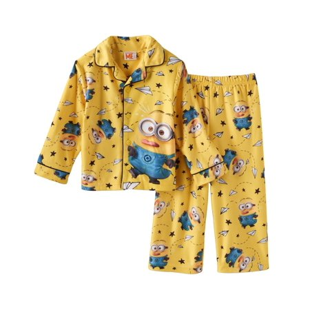 Despicable Me Little Boys' Class Clown 2-Piece Pajama Coat - Despicable Me Fabric