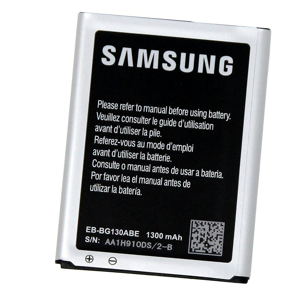 Original Samsung EB-BG130ABE 1300mAh Battery for Samsung Galaxy Star 2 Duos Galaxy Young 2 Galaxy Young 2 Duos SM-G130 SM-G130E SM-G130H in Non-Retail Packaging