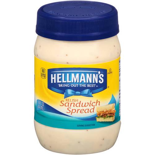 Hellmann's Relish Sandwich Spread, 15 fl oz