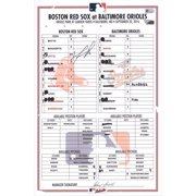 David Ortiz Boston Red Sox Autographed Game-Used Lineup Card vs. Baltimore Orioles on September 20, 2016 - Fanatics Authentic Certified