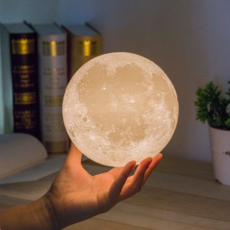 - Moon Lamp, Magicfly 3D Printing Moon Light, 3 Colors Dimmable with Tap Control, Rechargeable 5.9 Inch Lunar Light 4Inch