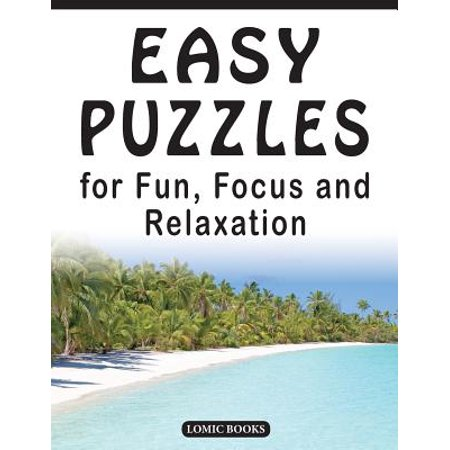 Easy Puzzles for Fun, Focus and Relaxation : Includes Spot the Odd One Out, Find the Differences, Word Searches and - Halloween Find Differences