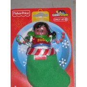 Fisher Price AA Figure with Minature Stocking [Toy], By Little People Ship from US