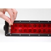 """One 2"""" x 55"""" Red Universal LED Light Bar Film Cover"""