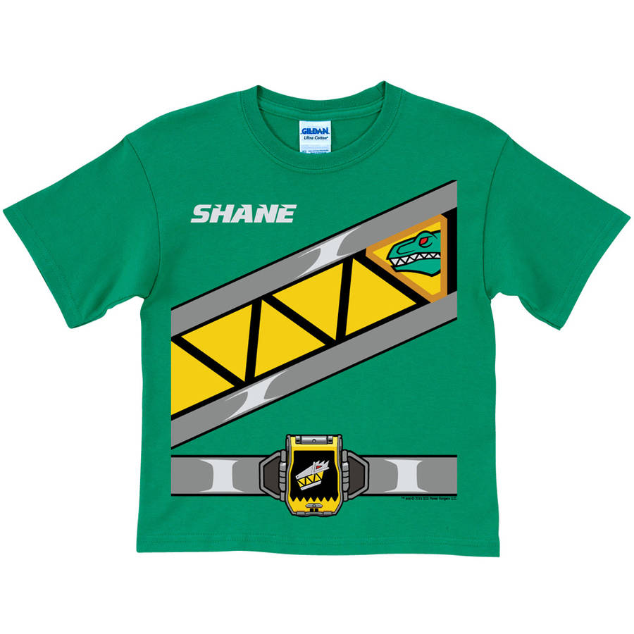 Personalized Power Rangers Dino Charge Toddler Boys' Green Ranger T-Shirt