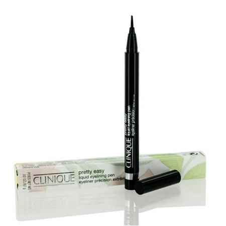 Clinique Pretty Easy Liquid Eyelining Pen # 1 Black 0.02 oz Eyeliner Clinique Brush On Cream Liner