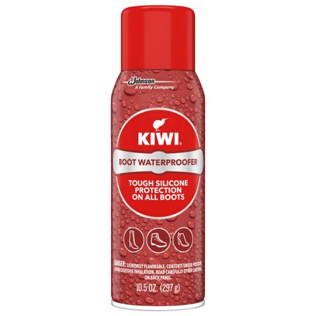 KIWI Boot Waterproofer - Tough Silicone Waterproof Spray for Boots (1 Aerosol), 10.5