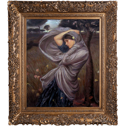 Tori Home Boreas by John William Waterhouse Framed Painting Print
