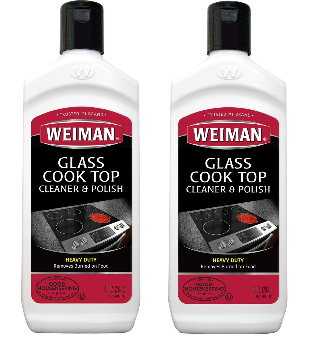 Cooktop Cleaner and Polish 10 Ounce 2 Pack Weiman