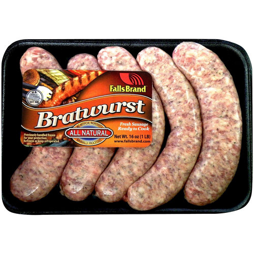 Falls Brand All Natural* Pork Bratwurst Links 1 lb