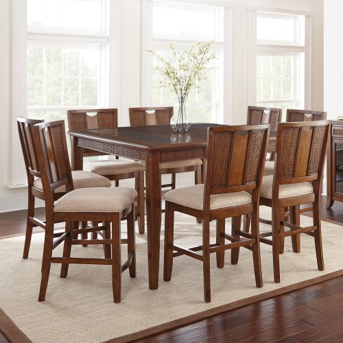 9 piece counter height dining room sets steve silver melody 9 counter height dining table 9159