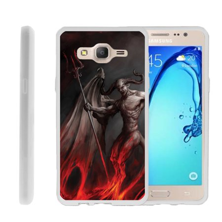 Samsung Galaxy On5 G550, Flexible Case [FLEX FORCE] Slim Durable  Sleek Bumper with Unique Designs - Demon with Wings](Demon With Wings)