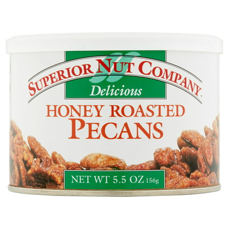 (5 Pack) Superior Nut Company Honey Roasted Pecans, 5.5 oz