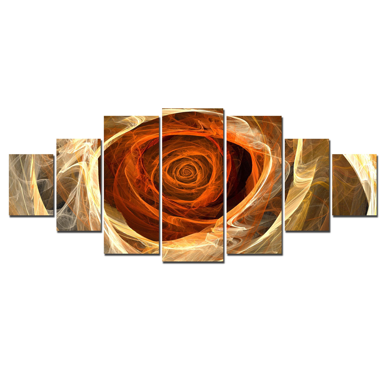 Startonight Huge Canvas Wall Art Flame Rose Usa Large Home Decor