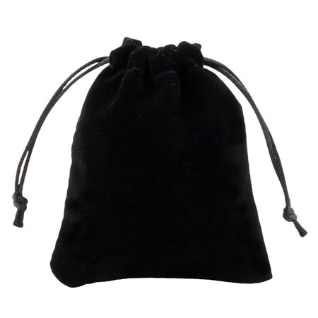 KABOER Best 10 Pack Wholesale Promotion - Black Velvet Cloth Jewelry Pouches / Drawstring Bags