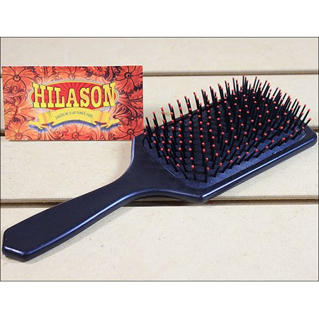 HILASON HORSE MANE TAIL DELUXE CLEANING BRUSH WITH RED BRISTLE