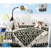 SoHo Crib Nursery Bedding Set, Camouflage Army, 9 Pieces
