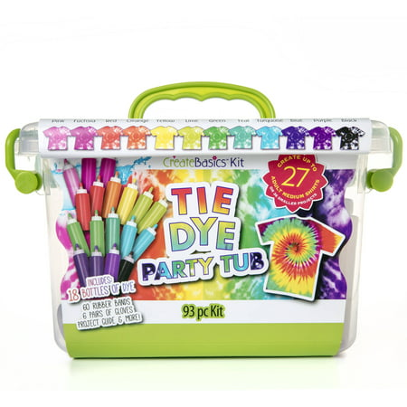 Create Basics Tie Dye Party Tub, 93 - Tie Dye Kits At Walmart
