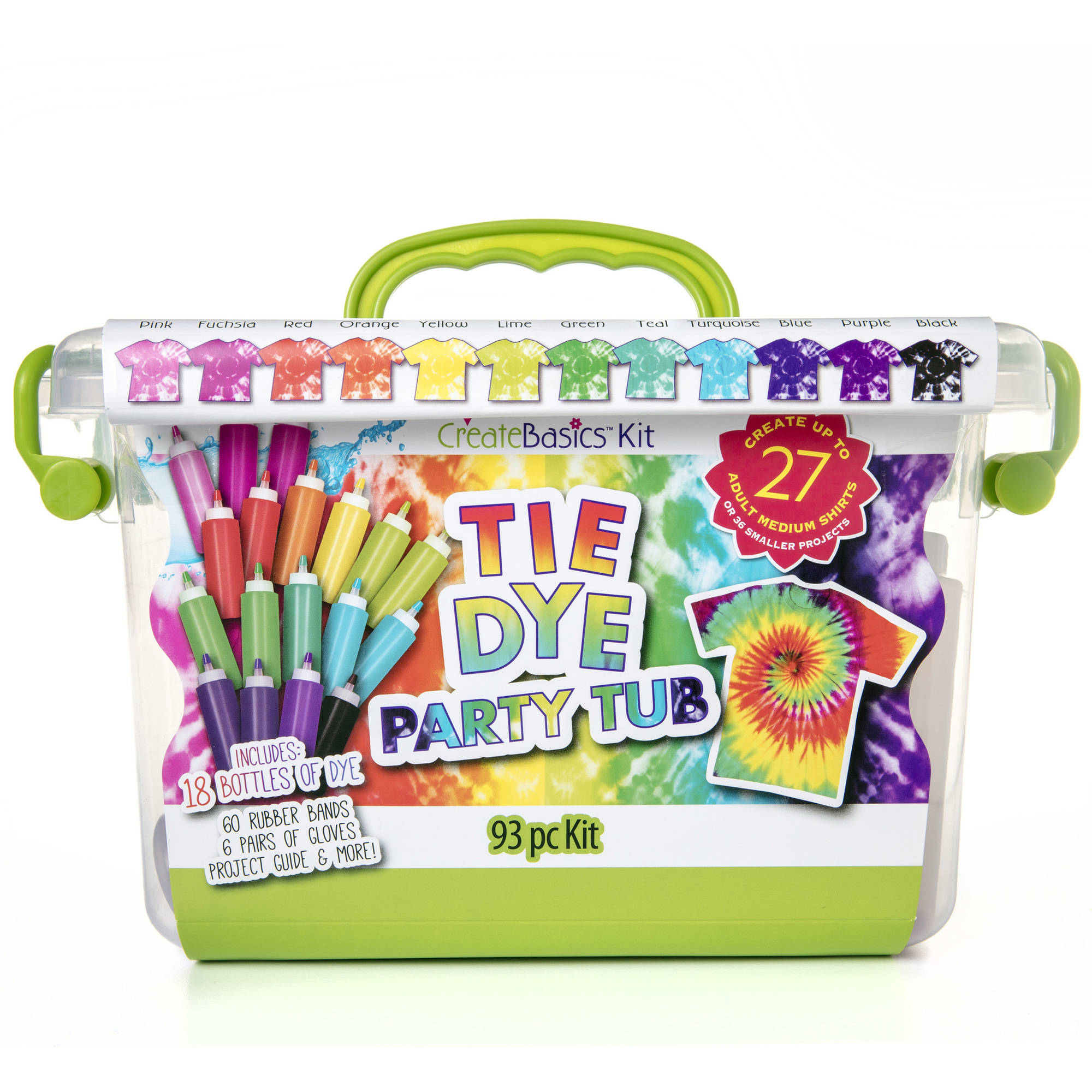 Create Basics Tie Dye Party Tub, 93 Piece