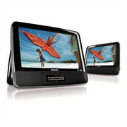 9 Philips Widescreen Portable Black Travel Car DVD Player w/ Speaker PD9012/37 (Certified Refurbished)