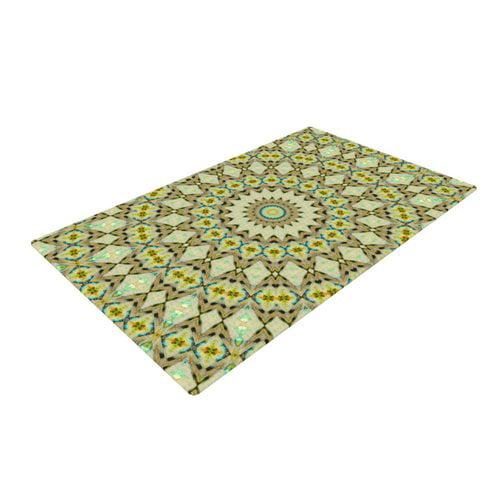 East Urban Home Iris Lehnhardt Kaleidoscope Geometric Green Area Rug