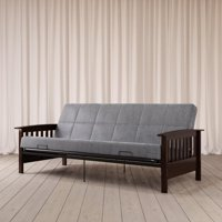 Better Homes & Gardens Mission Wood Arm Futon, Multiple Colors